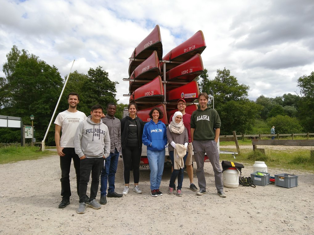 The lab at our 2019 summer outing: a canoe trip through a local nature reserve.