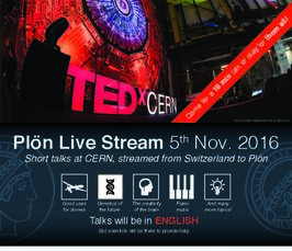 live broadcast of the TEDxCERN conference